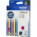 Cartus cerneala Original Brother Magenta LC525XLM compatibil DCPJ100/DCPJ105/MFCJ200, 1300 pag. (LC525XLM)