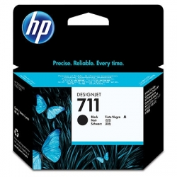 Cartus cerneala Original HP Black 711, compatibil DesignJet T120/T520, 80ml (CZ133A)